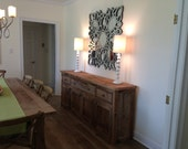 YOUR Custom Made Rustic Barn Wood Entertainment Center, Vanity, Credenza or Sideboard Dresser or Cabinet