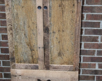 """YOUR Reclaimed and Rustic Barn Wood 40"""" Tall Pantry, Dresser or Storage Cabinet with FREE SHIPPING - BWC625"""