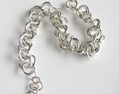 Sterling Chain Bracelet: Handcrafted Links