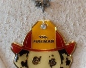 Dalmatian Volunteer Fireman Mascot Necklace.  Cute. Commerative. Classic.  -- Kay Adams.