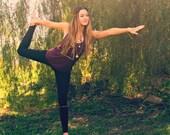 gold and black leggings // yoga leggings // yoga pants // tribal leggings // native leggings // cute yoga pants