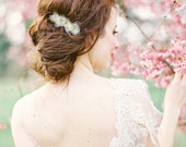 Willow: Whimsical gold branch and tulle hair comb