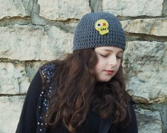 Zombeanie - Crochet Zombie Applique Hat - Great for Guys/Girls/Walkers