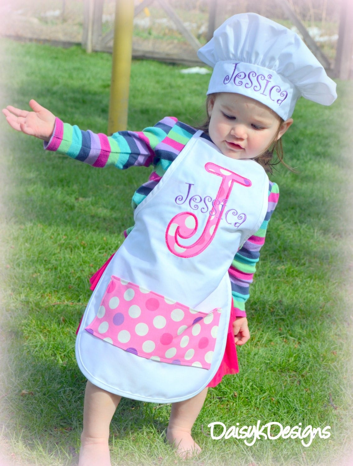 personalized child 39 s apron and chef hat set choose your. Black Bedroom Furniture Sets. Home Design Ideas