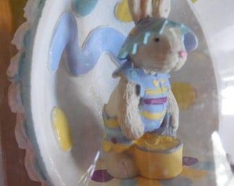 Vintage Bear Hoppy VanderBear Collector Egg Walking in Eggshells Vintage Sugar Egg