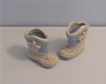 Baby Cowgirl or Cowboy Boots -  newborn to 9 mo sizes - made to order