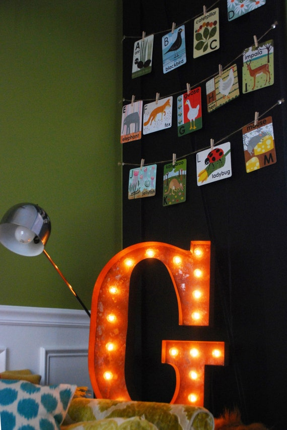 """Letter Light P - WHITE - 24"""" Vintage Marquee Lights-The Original!"""
