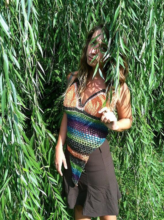 Tribal crochet halter top -sale