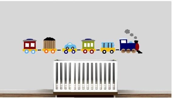 Items Similar To Choo Choo Train Wall Decal Xlarge SALE On Etsy