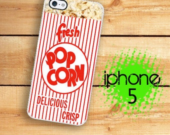 iPhone 5S Popcorn Movie Theater Snack Case  Hard Case For iPhone 5 Plastic or Rubber Trim iPhone 5S Case