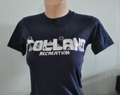 SALE Super Soft Thin Tee Tolland CT Navy Blue Number 3 Athletic Sports Tshirt Ladies Small