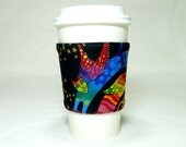 Coffee Sleeve Laurel Burch Winged Cats Cup Cozy