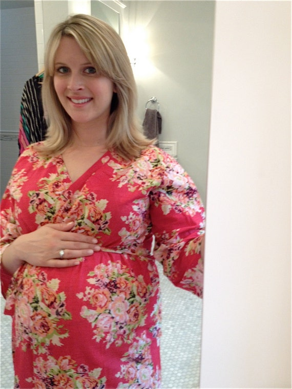 Maternity Hospital Gown Delivery Robe Red Perfect as labor