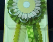 Lovely New Large Bravissimo Embellishment - Tones of Green - from Making Memories - FREE SHIPPING