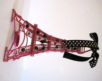 Pink Paris Eiffel Tower Candle Holder MADE TO ORDER