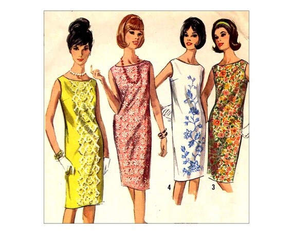 1960s Vintage Easy Shift Dress Sewing Pattern Simplicity 5980 - photo#34