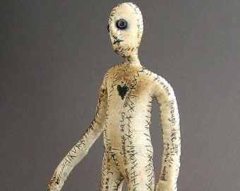 One of a Kind Doll - Stories Untold - Figurative Fabric Sculpture - OOAK Number Nine