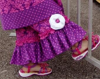 PDF Pattern Girl Ruffle Flower Pants Custom Juvie Moon Designs PDF Download BRAYDIN