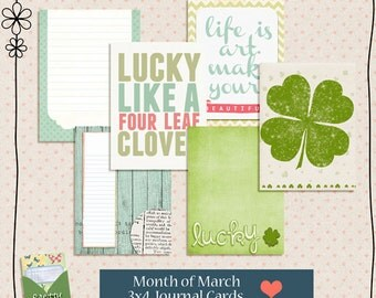 Cards of the Month - March -  3x4 Digital Journaling Cards