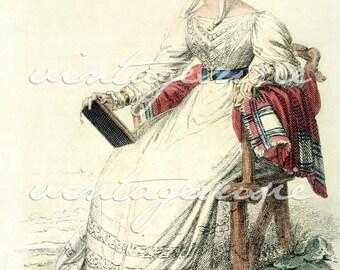 ACKERMANN Regency Fashion Plate Print COLLAGE SHEET 1825 Print 9 Digital Download Jane Austen