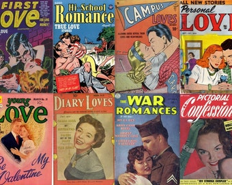 GIRLS LOVE ROMANCE & Intimacy Comics Golden Age (vol 1) Teenage Stories Cbr cbz