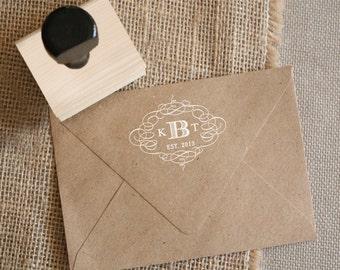 Custom Monogram Stamp - YOUR CUSTOM WORDING  - Entwined