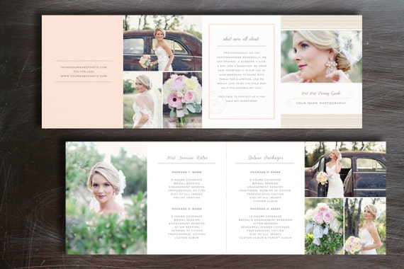 Wedding Pricing Guide Photography Price List Template – Wedding Price List