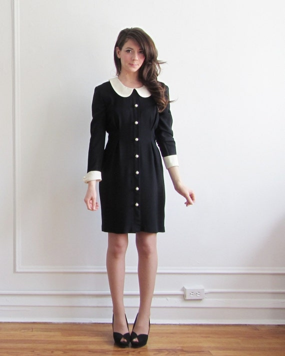 peter pan collar dress . wednesday addams meets the parent