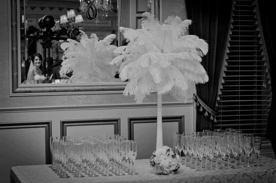Ostrich Feather Centerpiece Kits : Items similar to diy kit of ostrich feather tower