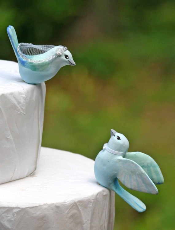 blue love birds wedding cake topper blue gray tanager birds wedding cake topper 11994