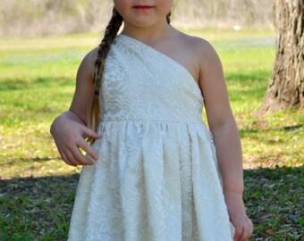 Ivory Lace One Shoulder Dress - Spring/Summer 2013