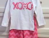 Valentine's Day Applique Shirt...Ready for Delivery...Sizes Available 18m, 2, 4, 6, and 8