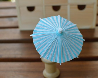 10 pcs Party favor Summer cocktail umbrella Cup Cake Toppers drink umbrella blue white stripe