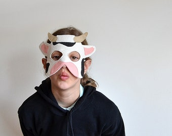 Kids Cow Mask Carnival, Nativity Costume Children Pretend Play, Dress up Toy, Boys, Girls, Toddlers