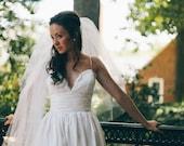 Low Back Coco Style Wedding Dress