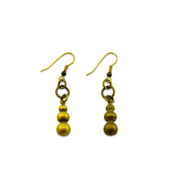 Vintage Brass Chandelier Earrings