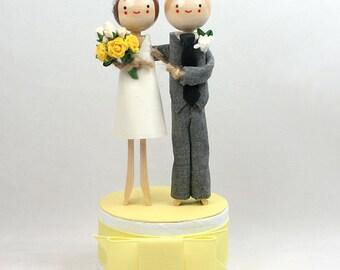 Custom Wedding Cake Topper with STANDARD SHORT DRESS