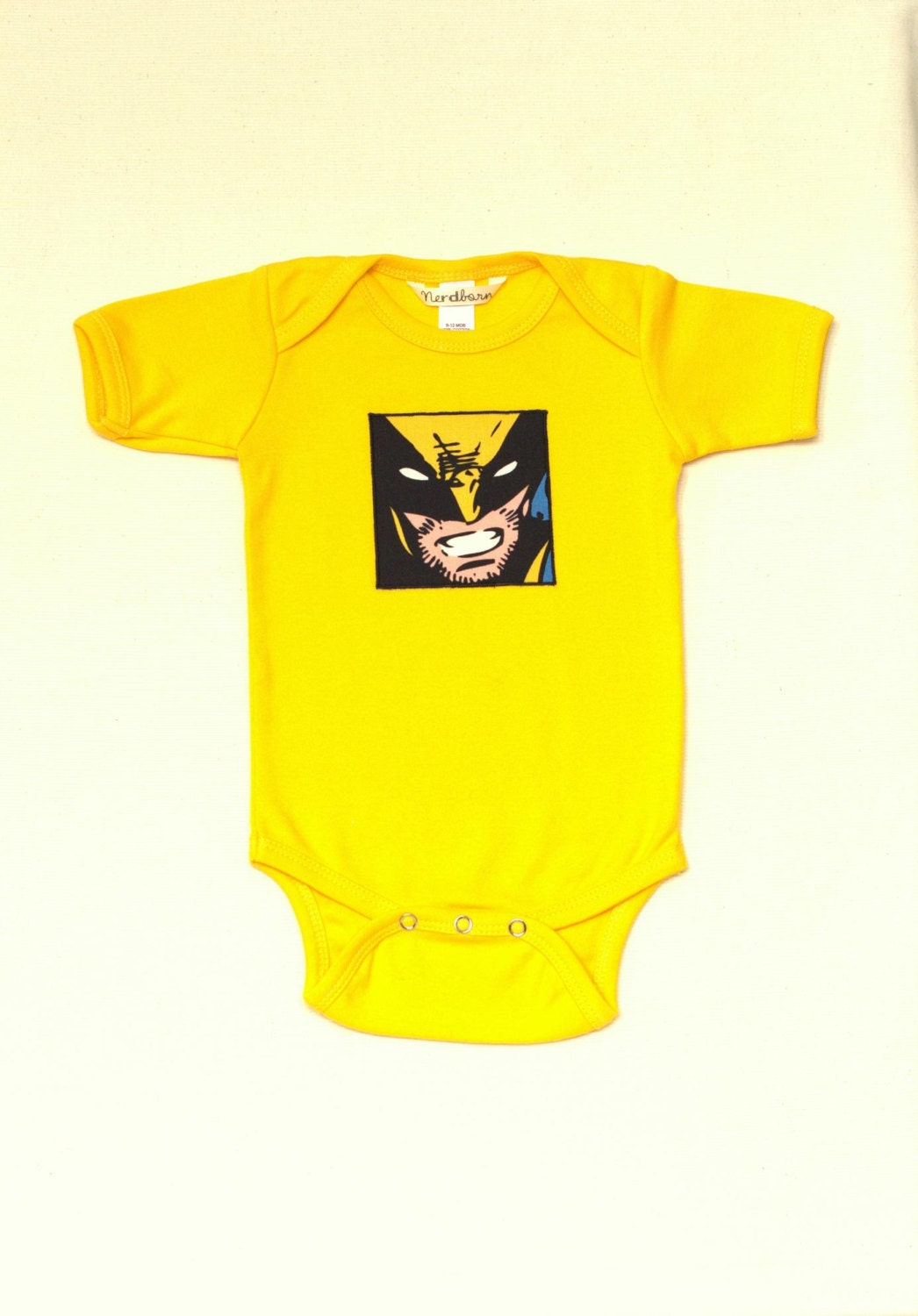 Yellow Wolverine X Men Baby esie Multiple Sizes