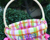 Easter Basket liners for Girls or Boys Easter Basket 5 to choose from Personalized with name
