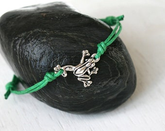 Frog Bracelet, Frog Anklet (many colors to choose)