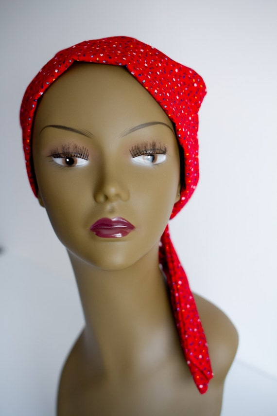 cancer hat chemo scarf wrap alopecia turban by