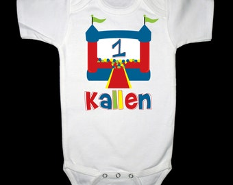 Personalized Bounce House Ball Pit Birthday Shirt or Bodysuit - Personalized with ANY name and age