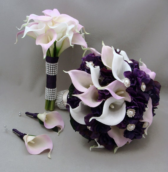 Flowers Similar To Lilies: Items Similar To Purple Lavender Real Touch Calla Lily