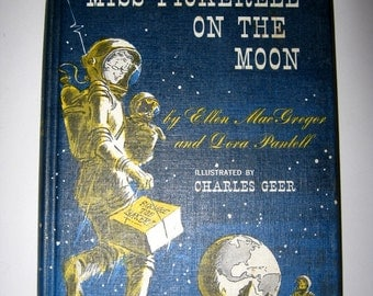 Book, Miss Pickerell on the Moon, 1965, Weekly Reader, McGraw Hill Book Company, hardcover