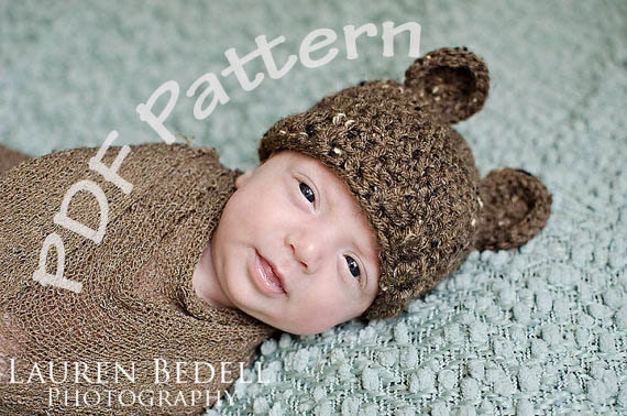 Free Patterns For Crochet Baby Hats With Ears images