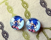 Sonic 8-bit post earrings