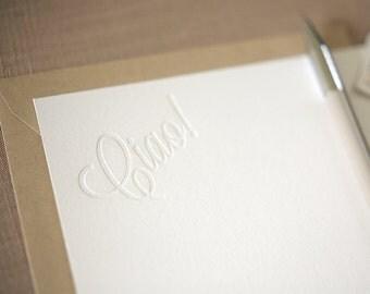 Letterpress Stationery - Ciao Itialian Letterpress Notes