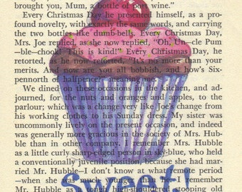 Cupcake - Cupcake Art Print on Antique Page, Signed Print & Free Shipping in US