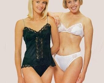 80s Womens Girls Lingerie Pattern Justknits Half Full Slip Briefs Singlet Camisole All Sizes  8 - 22 UNCUT Factory Folded Master Pattern