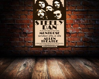 Steely Dan 1974 Cleveland Concert Poster